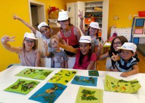 Bastelgruppe Kinderanimation Schlosscamping Volders
