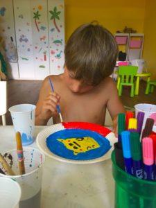 Malgruppe Kinderanimation Schlosscamping Volders